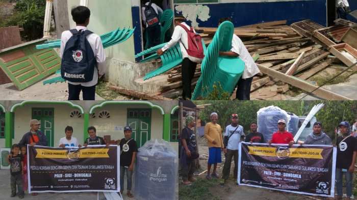 Raktyat bantu rakyat | Posko Peduli Sulteng-DIY