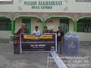 Serah terima bantuan   Posko Peduli Sulteng-DIY