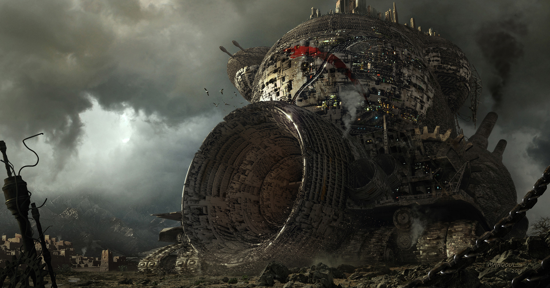 Ilustrasi Mortal Engines | ArtStation