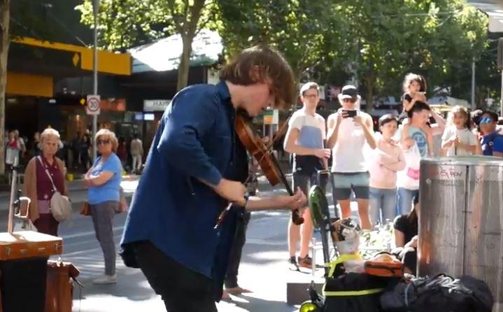 Pertunjukan musisi jalanan di kota Melbourne | Eko Prasetyo