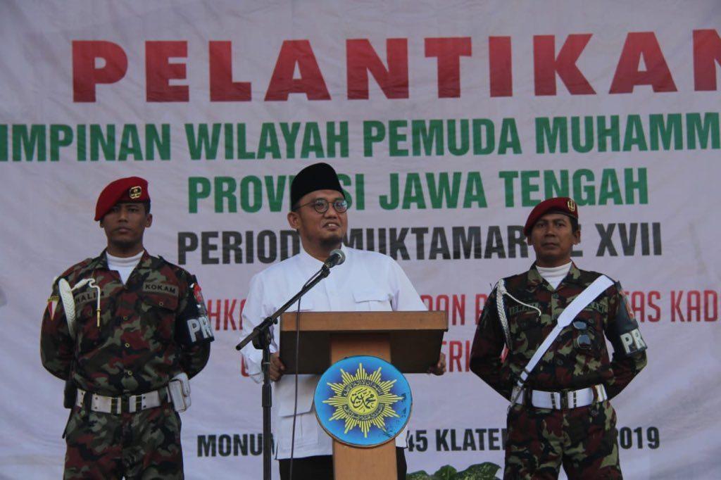 Dahnil Anzar dalam acara tabligh di Jawa Tengah | Twitter/Dahnilanzar