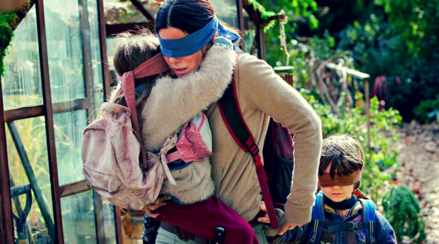 Ilustrasi Bird Box | The Verge